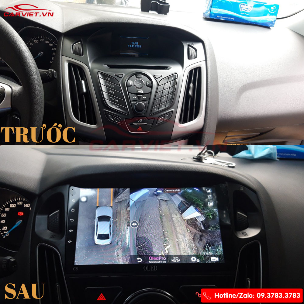 lắp đặt DVD Oled Pro C8S Cho Ford Focus